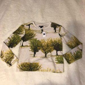 NWT Gap Kids Youth Girls Tree Novelty Sweatshirt L